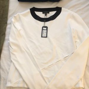 Rag + Bone long sleeve too with cutout detail